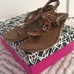 Diane Von Furstenberg leopard sandals